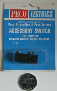 PECO Streamline & Setrack PL-13 Accessory Switch Fits Turnout Motor Unused