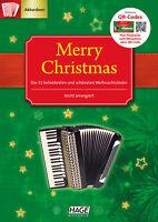 Merry Christmas für Akkordeon - 31 beleibte und schöne Weihnachtslieder