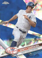 BRETT GARDNER 2017 TOPPS CHROME SAPPHIRE EDITION #457 ONLY 250 MADE