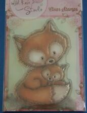 Wild Rose Studio 'Mummy Fox and Baby' Clear Stamp