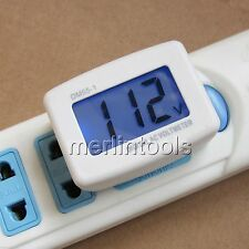 Blue LCD Volt Mete AC 80-300V For 110v 120v 220v 230v 240v American Style Plug