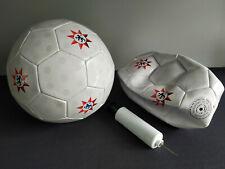 2 x Gerolsteiner Fußball mit Ballpumpe NEU Gerolsteiner Ball