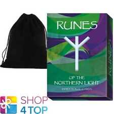 RUNES OF THE NORTHERN LIGHT ORACLE CARDS DECK LO SCARABEO WITH VELVET BAG NEW