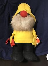Fisherman Fufel Te-ri Products Canadian Souvenir Felt Doll Reindeer Fur 1981
