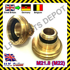 LPG GPL Autogas filling point ACME M21.8 adaptor UK (GB) to GERMANY, BELGIUM