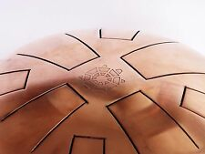 Turtle tank drum steel tongue handpan 2-SIDES COPPER Arad C javanese F aeolian