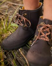 Joules Womens Ashby Lace Up Welly - Dark Brown - Adult 4