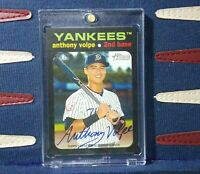 Anthony Volpe 2020 Topps Heritage Minors Real One Auto #d /25 Missing Border SSP