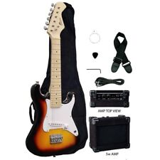 "Raptor TOBACCOBURST 31"" Mini ST Kid's Electric Guitar w/ 5 Watt Amp, Bag, Strap"