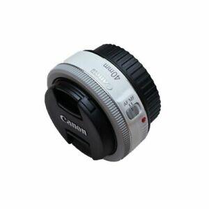 [Canon] EF 40mm f/2.8 STM Pancake Lens (Bulk Package) - White ⭐Tracking⭐