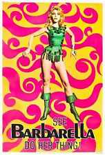 Barbarella Poster 01 A2 Box Canvas Print