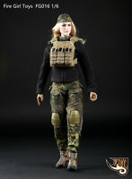 Fire Girl Toys 1/6 Tactical Female Shooter Camouflage Clothing Suit Set FG016