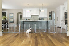 """New listing Carlson 2 in 1 Dog Gate and Pen, Gray, 192""""L x 2""""W x 26""""H"""