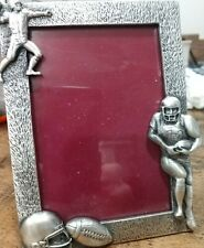 Pewter Colored Football 4x6 Frame