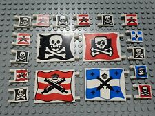 LEGO Piraten Flagge Fahne 6285 6276 6274 6286 piratenfahnen 18 Stück