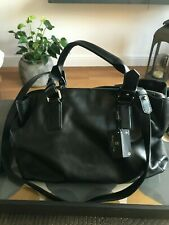 Massimo Dutti Black Soft Leather Bag