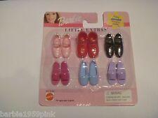 "Barbie Shoes - Mattel "" Little Extras "" For Flat Foot Dolls  NIP"