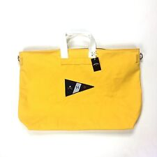 NWT Noah NY Men's Yellow Canvas Core Logo Holdall Duffle Bag SS17 DS AUTHENTIC
