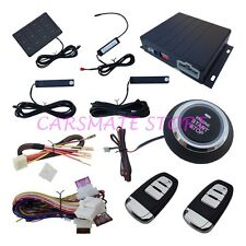 PKE Passive Keyless Entry Car Alarm System With Engine Start Stop Push Button