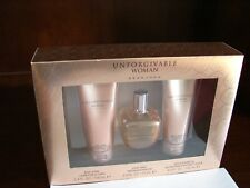 Unforgivable Woman by Sean John 3 Piece Lotion Perfume Shower Bath Gel Gift Set