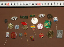 LOT 21 VINTAGE EUROPEAN BADGES PINS