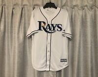 Tampa Bay Rays MLB Majestic Cool Base Baseball Jersey Size M NEW