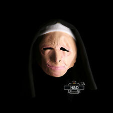 Scary Green Latex Town Nun Robbers Halloween Mask Masquerade Party Costume Props