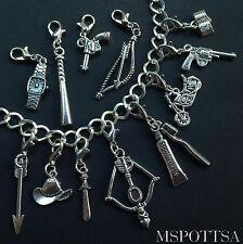 12pcs The Walking Dead Bracelet Clip Ons Charms Zipper Pulls Daryl Dixon lot TWD