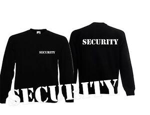 Security Pulli , Sweatshirt  Security, SECURITY PULLOVER 2x bedruckt STENCIL