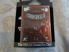 Disney D23 Archives Hinged StoryBook Cinderella Slipper CInderella Storybook pin