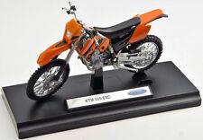 BLITZ VERSAND KTM 525 EXC  Welly Motorrad Modell 1:18 NEU & OVP