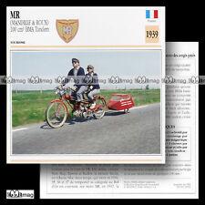 #029.02 MR MANDILLE & ROUX 100 BMA (Moteur SACHS) 1939 Fiche Moto Motorcycle
