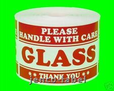 ML23103, 500 2x3 Glass Handle With Care Labels/Sticker