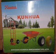 "Kunhua 13-af-b-fk-16 3.00-8"" Pneumatic (Air-filled) Tire w/ Knobby Tread (Black)"