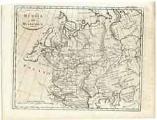 c. 1770 Copper Plate Engraving Map Russia or Moscovy A. Bell Muscovy Guthrie