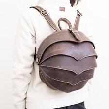 Handmade Original Brown Genuine Leather Beetle Bag. Insect Art Backpack.