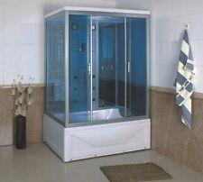Cabina idromassaggio 135x85 6 idrogetti cromoterapia bagno turco radio FM|070