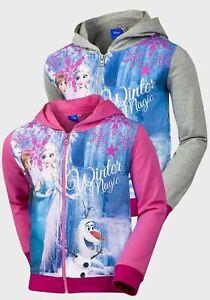 Disney Official Frozen Girls Boys Olaf Sweatshirts Tracksuits Showerproof Coats