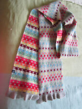 GAP LADIES KIDS TEENAGE STARS RAINBOW PRINT WINTER SCARF Lambswool STRIPES