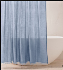 Gauze Shower Curtain Sky Blue - Casaluna NEW