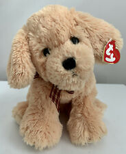 TY CLASSIC Plush - GOLDWYN the DOG – Plaid Bow– Excellent Condition New W/ TAGS