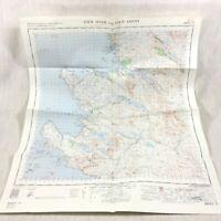 1961 Vintage Militare Mappa Di Lochinver Loch Assynt Sutherland Scozia Highlands