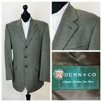 Dunn & Co Mens Jacket Blazer Chest 40 Brown Black Tweed Style 100% Wool S34A