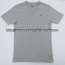 55% OFF! AUTH AEROPOSTALE MEN'S V-NECK A87 GREY BASIC TEE MEDIUM BNEW US$12.99