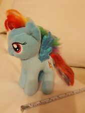 "7"" Ty My Little Pony Rainbow Dash Rainbow  Lightning Bolt Plush 2014 pre-owned"