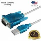 3Ft Translucent USB 2.0 to DB9 RS232 Serial Converter 9 Pin Cable PDA