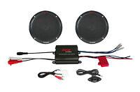 """Pyle PLMRKT2B 2 Ch 400 W Waterproof Micro Marine Amplifier& 6.5"""" Speaker System"""