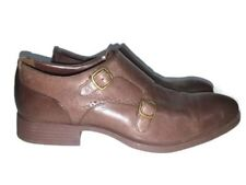 Cole Haan Men's Double Monk Strap Leather Shoes Size 8.5 M - Brown