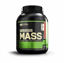 Optimum Nutrition Serious Mass Whey Protein Weight Gainer, Strawberry, 6 Pound