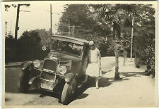 PHOTO ANCIENNE - VINTAGE SNAPSHOT - VOITURE TACOT AUTOMOBILE FEMME MODE - CAR